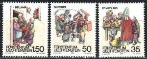 Liechtenstein. 1990. 1008-10. Folk customs, children, dog. MNH.