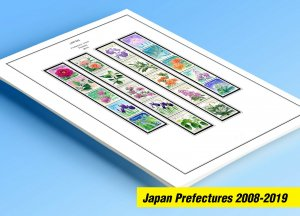 COLOR PRINTED JAPAN PREFECTURES [FURUSATO] 2008-2019 STAMP ALBUM (125 ill.pages)