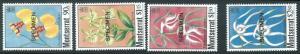 70721 -  MONTSERRAT - STAMP : FLOWERS 4 values MNH - Overprinted SPECIMEN