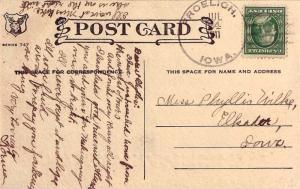 United States Iowa Froelich 1911 4a-bar  1888-1963  PC  Small crease at botto...