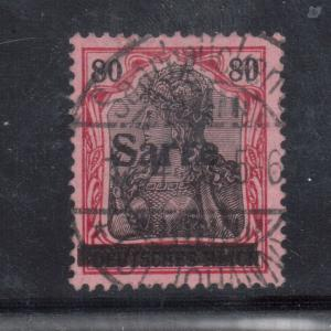 Saar #16 Very Fine Used **With Certificate**