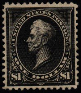 US Scott #276 - VF - $1 Perry - Black - OG HR - 1895
