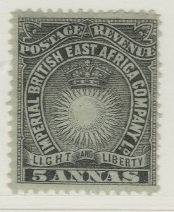 British Colony East Africa KUT 1895 5a MH* Stamp A22P18F8909