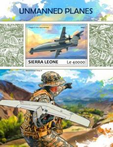 Sierra Leone - 2017 Unmanned Planes - Stamp Souvenir Sheet - SRL17710b