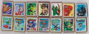 14 Different Stamp Pins Featuring USA Super Hero Stamps