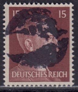 Germany Soviet Zone SBZ - LOCAL BLOSENBERG 15Pf HITLER head - Expertized Richter