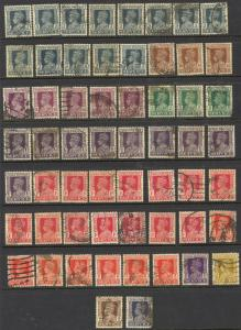 India Sc# O105-O112 (Assorted) Used Lot/58 1939-1943 KGVI Officials