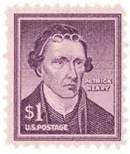 SCOTT # 1052 SINGLE $ 1.00 PATRICK HENRY MINT NEVER HINGED GEM 1955