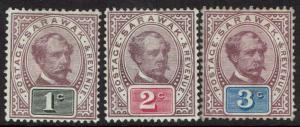 SARAWAK 1888 RAJA BROOKE 1C 2C AND 3C