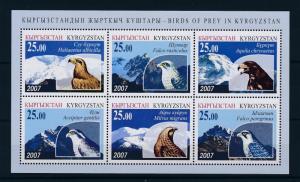 [41004] Kyrgyzstan 2007 Birds Vögel Oiseaux Ucelli  of prey MNH Sheet