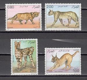 Algeria, Scott cat. 801-804. Wild Cats issue. ^