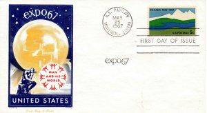 US FDC #1324 Canada, Jackson (6905)