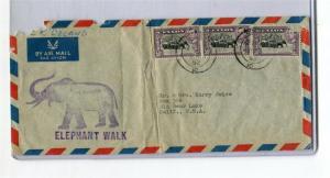 Ceylon Elephant stamps on ELEPHANT WALK Cachet Cover