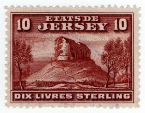 (I.B) Jersey Revenue : Duty Stamp £10 (1932)