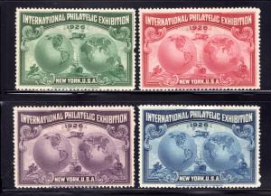 1926 New York, International Philatelic Exhibition, Cinderella set of 4, MHOG