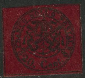 Roman or Papal State Scott 16 MH* 1867 CV $200