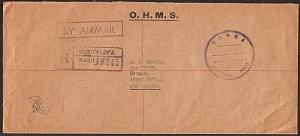 TONGA c1960s OHMS registered Official Paid cover to NZ.....................18336