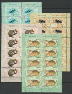 Moldova 2019 Fauna Animals & Insects, Red Book Full sheets