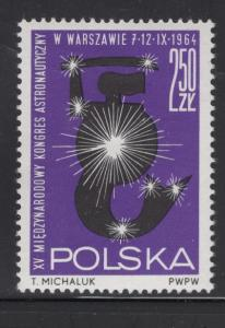 POLAND 1266 MNH MERMAID AND STARS ISSUE 1964