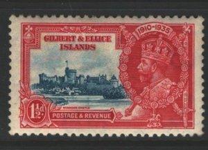 Gilbert and Ellice Islands Sc#34 MVLH - tone spot