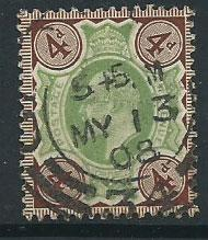 GB Edward VII SG 236 VFU cancel MY 13 08