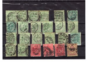 british post marks x 24 stamps