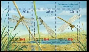 Kyrgyzstan 2019 dragonflies insects fauna s/s MNH