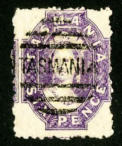 Tasmania Stamps # 21 XF Used Scott Value $475.00