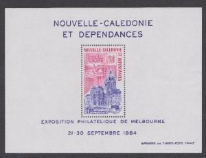 New Caledonia 1984 Melbourne Stamp Expo souvenir sheet MNH C200a