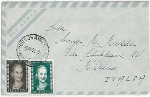 ARGENTINA - POSTAL HISTORY: COVER to ITALY 1952 . EVITA