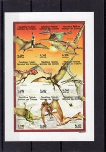 Comoro Islands 1998 Sc#928 Prehistoric Animals Mini-Sheetlet  Imperforated MNH