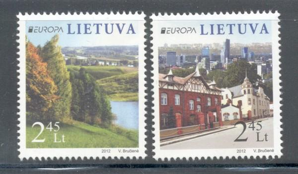 Lithuania Sc 973-4 2012 Europa stamp set mint NH
