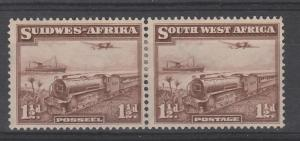 SOUTH WEST AFRICA 1937 TRAIN 11/2D PAIR