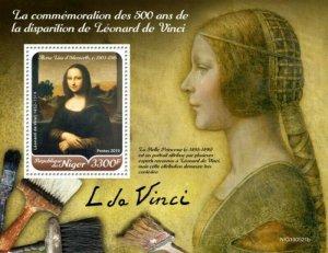 Niger - 2019 Italian Artist Leonardo da Vinci - Stamp Souvenir Sheet NIG190521b