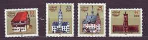 J23258 JL stamps 1983 DDR germany set mnh #2324-7 town halls