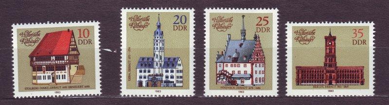 J23258 JL stamps 1983 DDR germany set mnh #2324-7 town halls