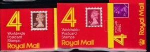 GB BK # 446,456,478 VF-MNH  3 DIFFERENT COVERS BOOKLETS PO FRESH CAT VALUE $65+