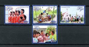 Fiji 2016 MNH Christmas in Fiji 4v Set Churches Carolling Stamps