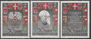 Austria #820-22   MNH  (S4564)