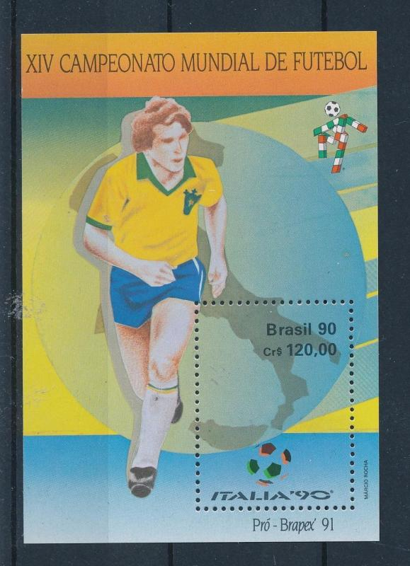 [44525] Brazil 1990 Sports World Cup Soccer Football Italy MNH Sheet