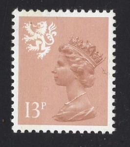 Great Britain Scotland  #SMH21 13 1/2 x 14 type I   MNH Q E II  13 p  Machin