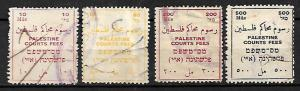 PALESTINE BRITISH MANDATE COURT FEES REVENUE STAMPS Mils CURRENCY. 1920s