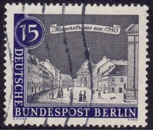 Germany Berlin - 1963 - Scott #9N198 - used - Mauer Street
