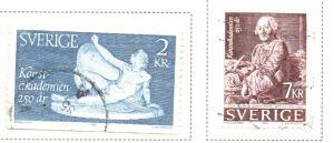Sweden Sc  1551-3 1985 Fine Arts Academy stamp set used