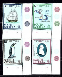 South Georgia 52-55 MNH 1979 Capt Cook    #2