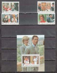 TURKS & CAICOS ISLANDS 913, 916, 917, 920, 922 MNH 2019 SCOTT CATALOGUE VALUE $1