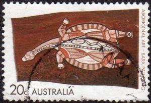 Australia 504 - Used - 20c Long-necked Tortoise (1971) (1)