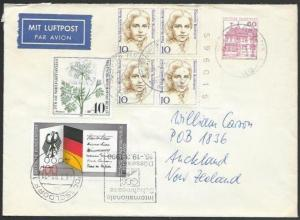GERMANY 1991 airmail cover to New Zealand - nice franking..................11249