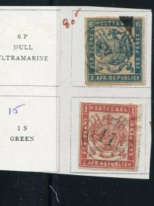 Transvaal  Used stamps 1870  VF