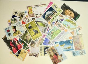 Jersey #1//80 Used CV$20.00 (48 stamps mostly in complete sets)